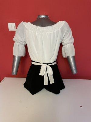 Empiècement de blouses blanc-noir