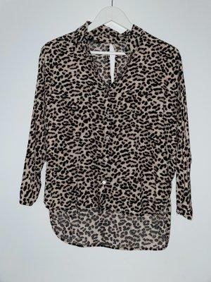 Bluse mit Leoparden Muster