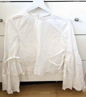 Bluse mit Lochstickerei