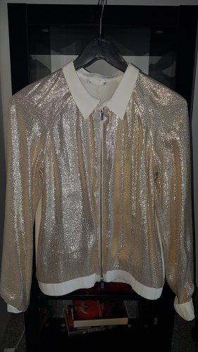 Bluse mit Metallic Optik hochwertig