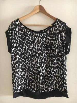 Blanco Short Sleeved Blouse black-white