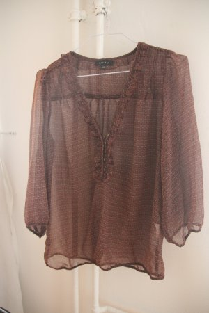 Bluse mit Muster transparent