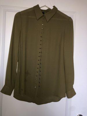 Mango Long Sleeve Blouse khaki
