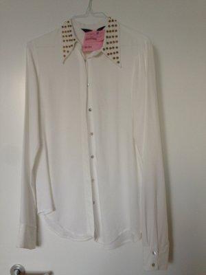 Bluse mit Nieten von Zara