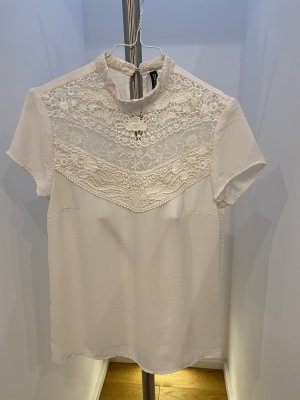 H&M Divided Stand-Up Collar Blouse natural white
