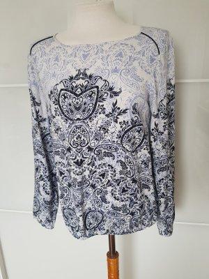 Bluse mit Ornamentdruck (Blautöne) von Soyaconcept, Größe S