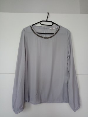 Anne L. Transparent Blouse light grey-anthracite