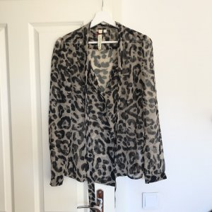 Bluse mit Print und Schluppe