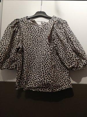 H&M Short Sleeved Blouse black-cream