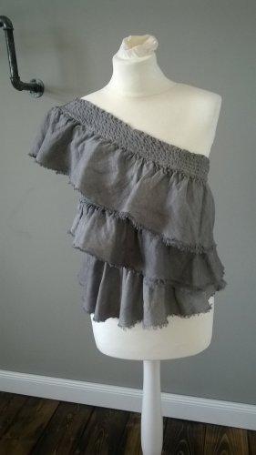 Rare london Blouse Top grey cotton