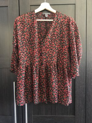 Bluse mit Rosenprint