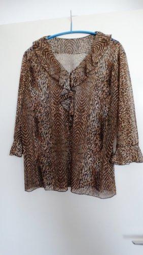 Ruche blouse veelkleurig Gemengd weefsel