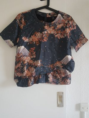 Maison Scotch Blouse à volants bleu pétrole