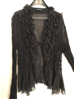 Bluse mit Rüschen in schwarz