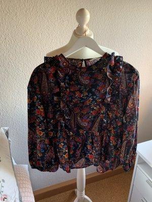 Bluse mit Rüschen und Muster H&M