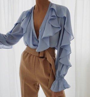 Zara Ruche blouse veelkleurig