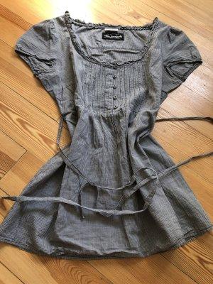 Bluse mit Schleife am Rücken schwarz/ weiß kariert