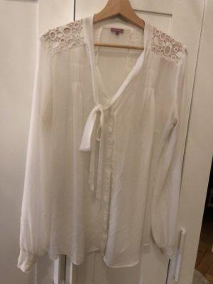 Suzanna Tie-neck Blouse white