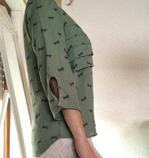 Bluse mit Schleifenmuster
