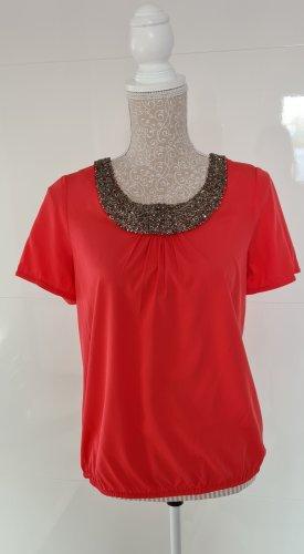 Livre Short Sleeved Blouse bright red
