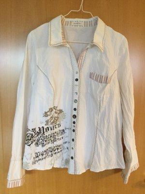 Bonita Blusa Crash bianco-marrone chiaro