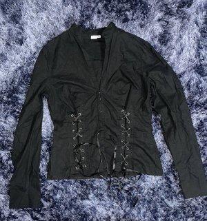 Bluse mit Schürrung als Muster