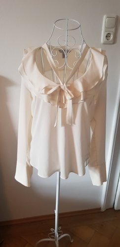 H&M Blouse avec noeuds crème-beige clair