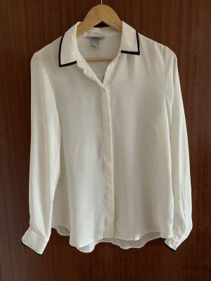 H&M Colletto camicia bianco-nero