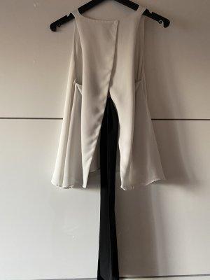 Zara Kopertowa bluzka czarny-w kolorze białej wełny