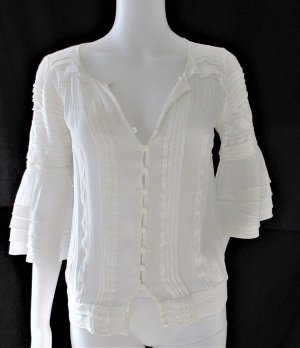 Bluse mit Spitze/ 100% Baumwolle/Gr. XS/Sehr leichte Qualität/HERVORRAGEND!