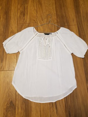 -8- Venice Blusa in merletto bianco