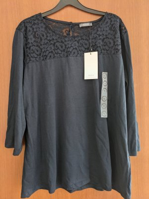 Canda Kanten blouse donkerblauw