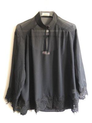 Custommade Blusa trasparente nero