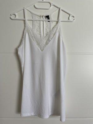 Vero Moda Top z cienkimi ramiączkami biały