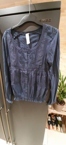 Bluse mit Spitze und Stickerei Größe M