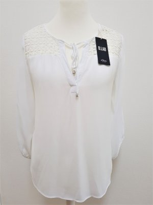 s.Oliver Blusa in merletto bianco
