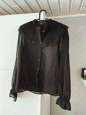 Bluse mit Spitze von Zara