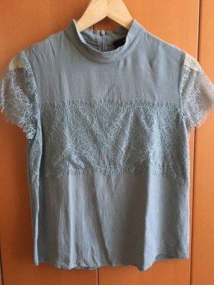 Hallhuber Blusa de encaje verde grisáceo Viscosa