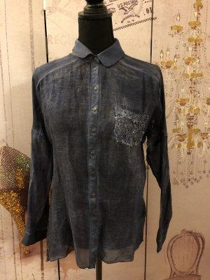 Black Swan Koszulowa bluzka chabrowy-ciemnoniebieski