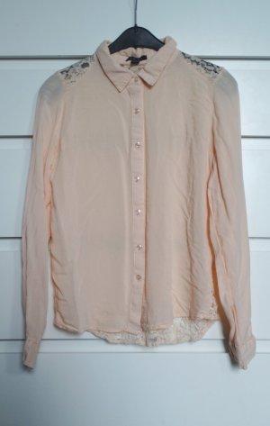 Amisu Koronkowa bluzka Wielokolorowy Tkanina z mieszanych włókien