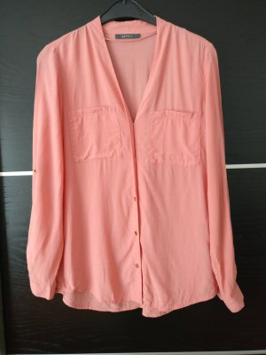 Esprit Stand-Up Collar Blouse salmon