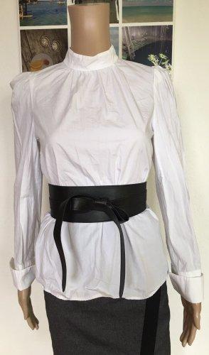 H&M Conscious Collection Blusa de cuello alto blanco