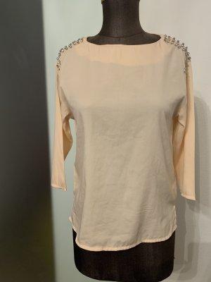 Bluse mit Strass Gr 34 XS von H&M