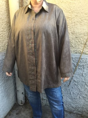 Atelier Creation Long Sleeve Blouse grey brown-taupe