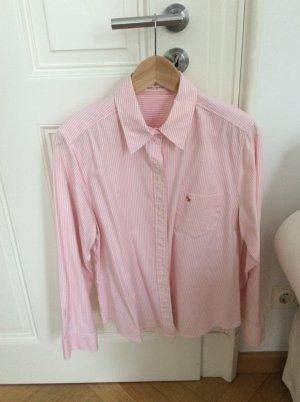 Bluse mit Streifen in weiß/rosa