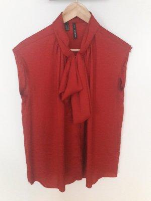 Zara Blouse avec noeuds rouge carmin