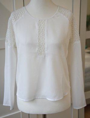 Bluse mit transparenten Cut-outs