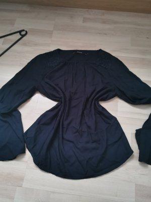Vera Moda Koronkowa bluzka ciemnoniebieski