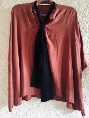 Zara Trafaluc Camicia blusa ruggine-bordeaux