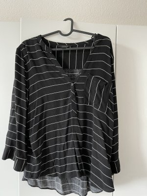 Athmosphere Long Sleeve Blouse black-white